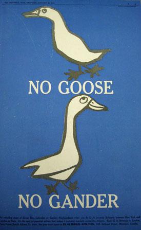 No goose no gander
