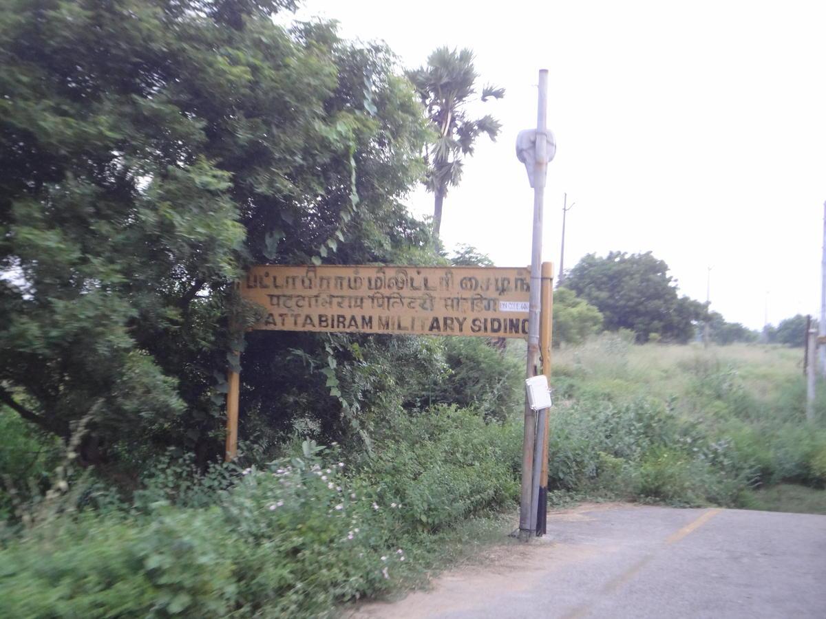 Pattabiram military siding