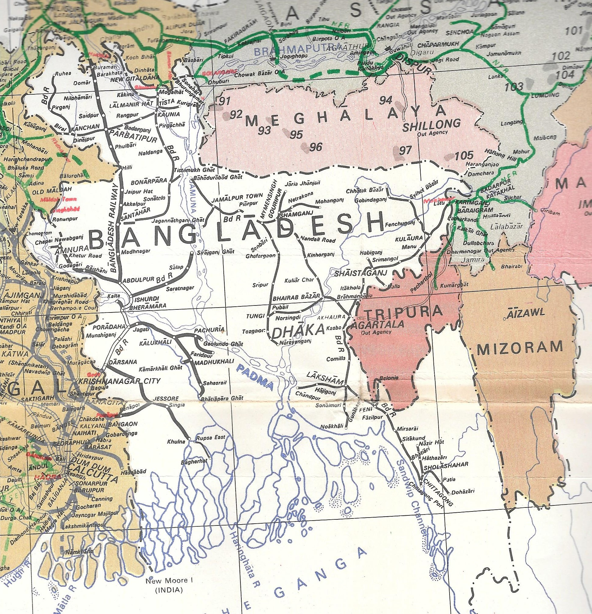 Railway maps of Bangladesh | abn397