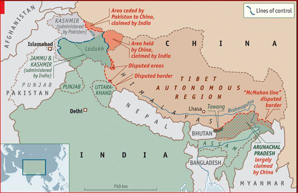 India disputed borders