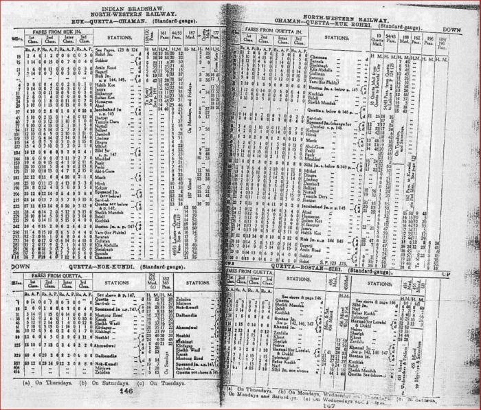 1943 Badshaw-Zahidan line