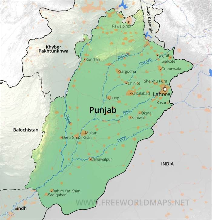 Pakistan Punjab-map