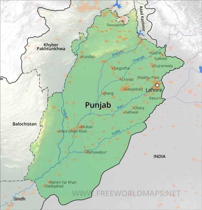 Pakistan Punjab-map