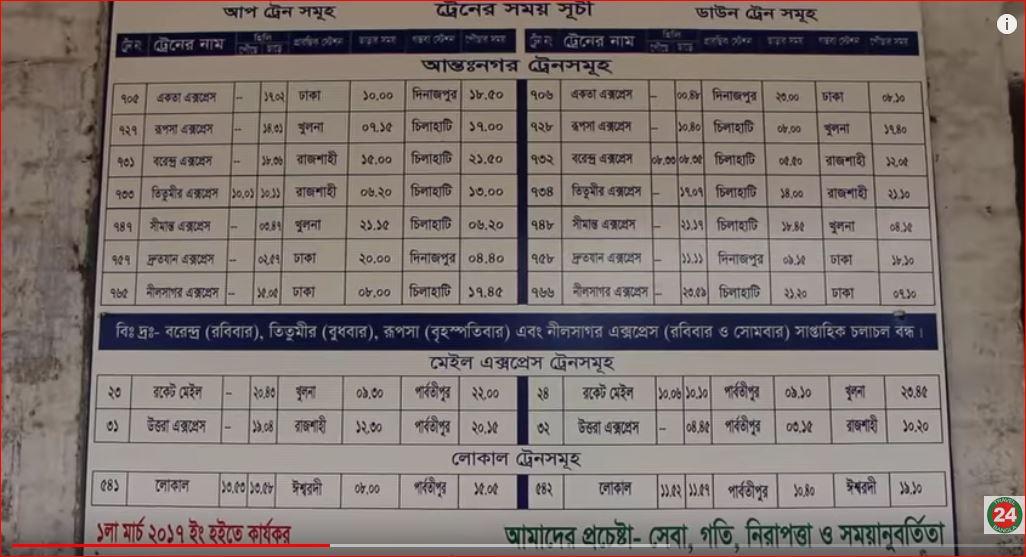 Hili timetable board