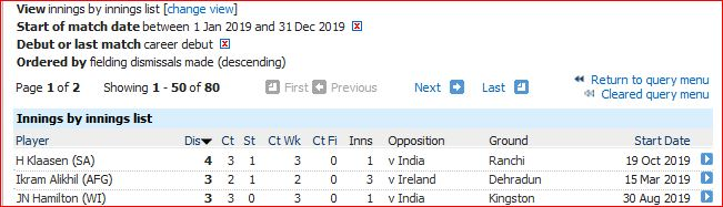 3 dis in innings