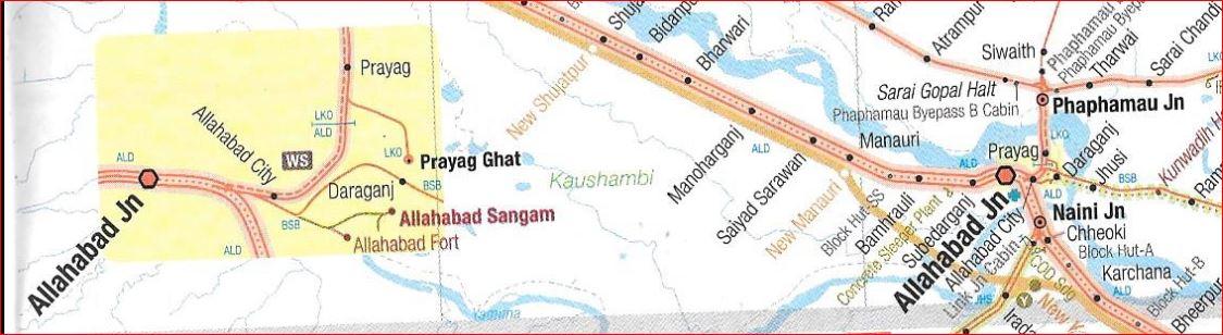 Railways around Allahabad