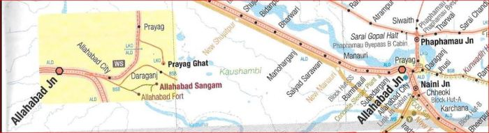 Railways around Allahabad