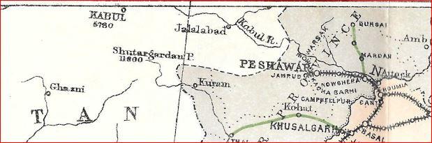 Peshawar area 1906