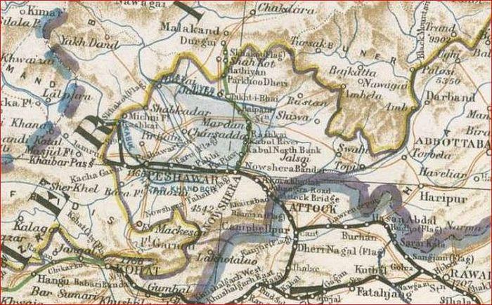 Peshawar area 1911