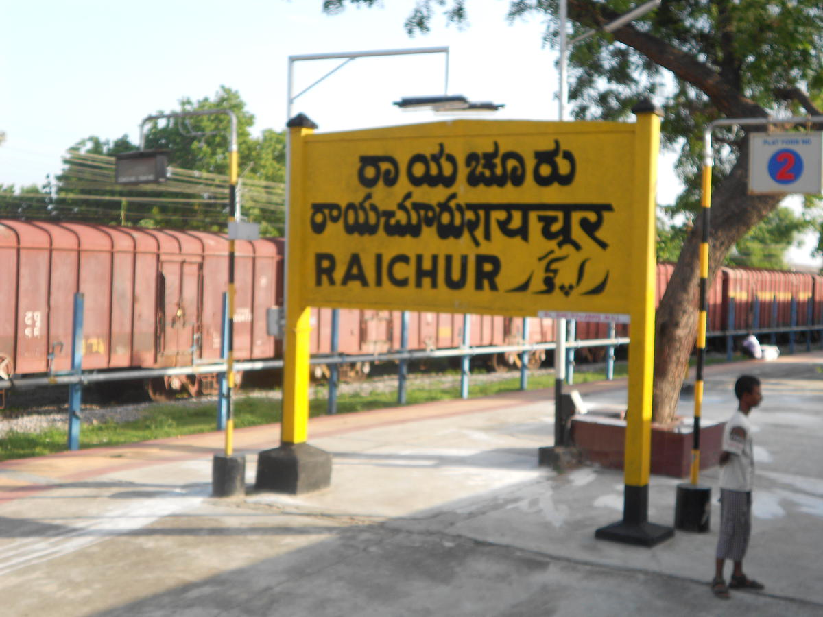 Raichur station-5 languages